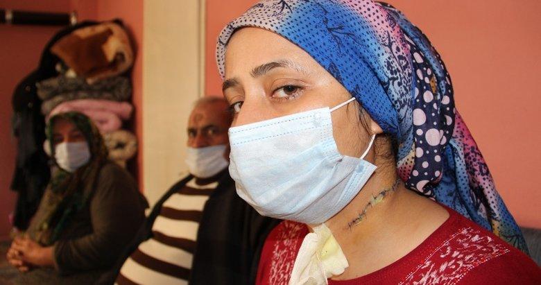 Boşanmak istediği eşi tarafından boğazı kesilen kadın yaşadıklarını gözyaşlarıyla anlattı