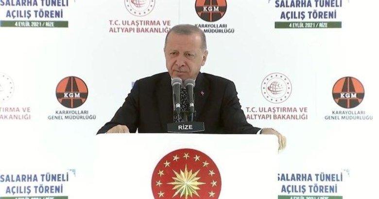Başkan Erdoğan'dan Rize'deki açılışta çarpıcı mesajlar
