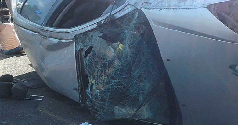 Manisa'da otomobil takla attı: 2'si çocuk 6 yaralı