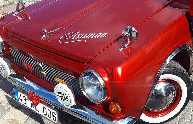 Kütahya'da 'Asuman' adlı 1972 model Anadolu marka otomobilin binlerce takipçisi var!
