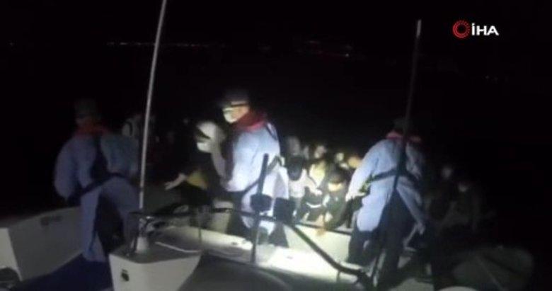 Çanakkale'de 43 göçmenin kurtarılma anı saniye saniye kameralarda