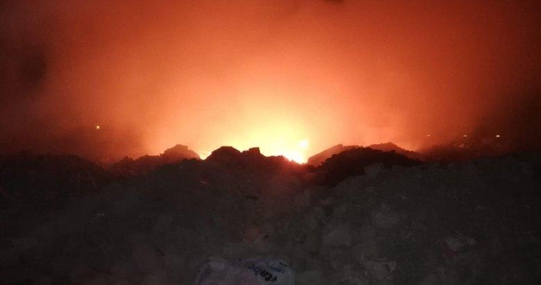 Kütahya'da moloz dökülen alanda yangın