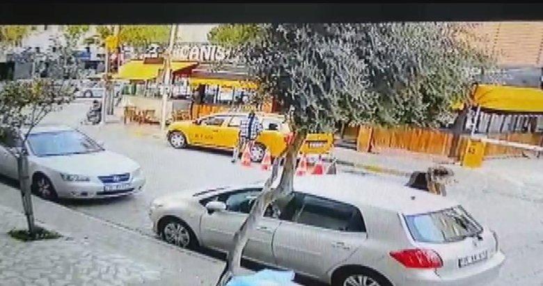 İzmir'de kaçırdığı taksi ile yayaya çarpan kadın, kovalamaca sonucu yakalandı