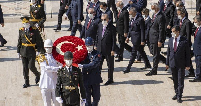 Son dakika: Başkan Erdoğan ve devlet erkanı Anıtkabir'de!