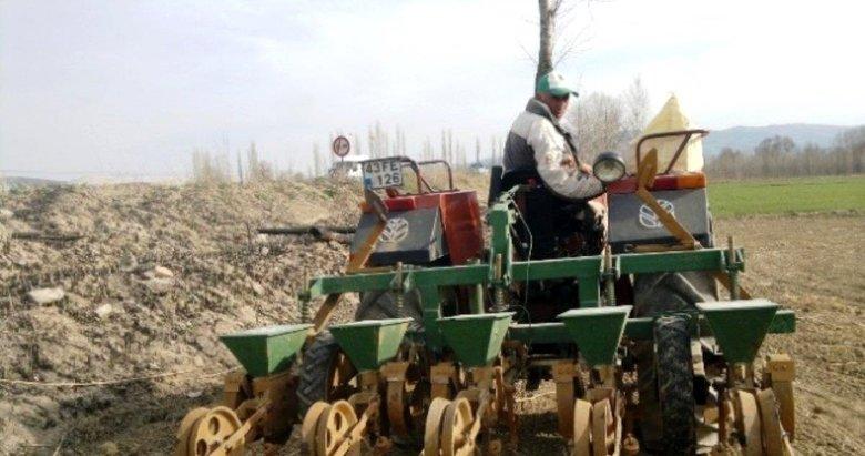Hisarcık'ta pancar ekim işlemleri tamamlandı