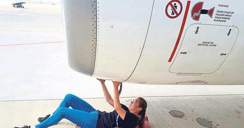 O artık bir uçak teknisyeni