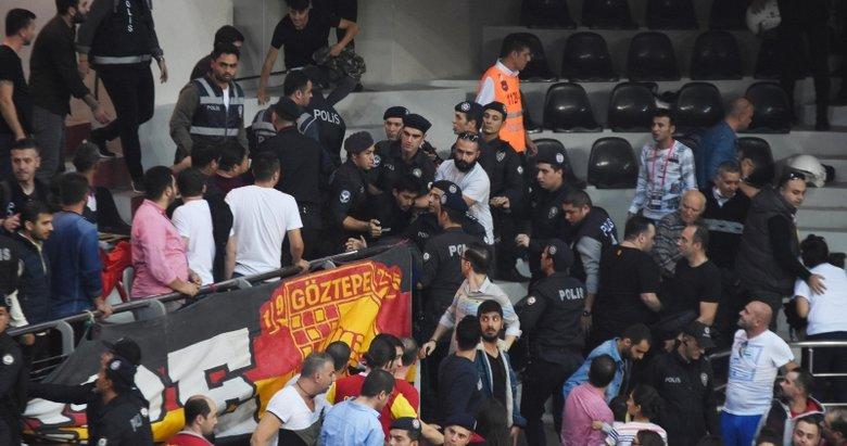 İzmir'de Göztepe-Karşıyaka derbisinde olay çıktı