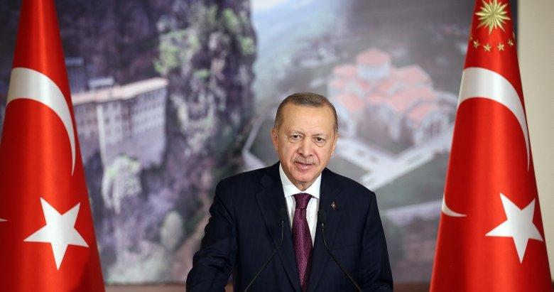Başkan Erdoğan'dan Sümela Manastırı ve Trabzon Ayasofya Camii açılış töreninde önemli açıklamalar