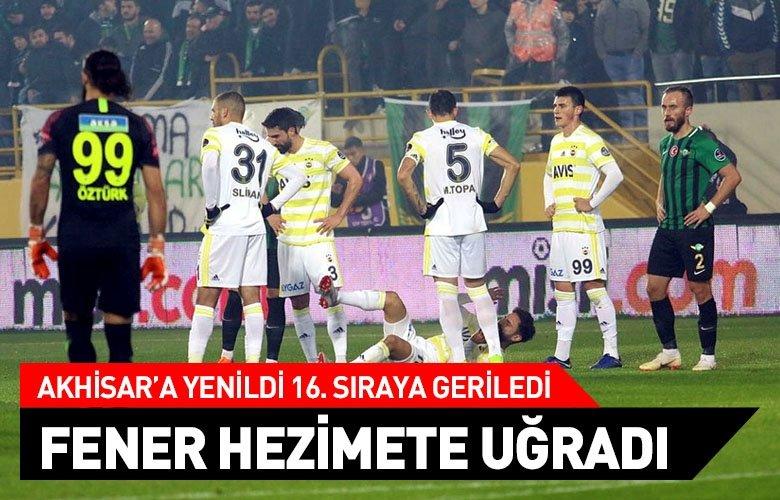 Fenerbahçe, Akhisarda hezimete uğradı