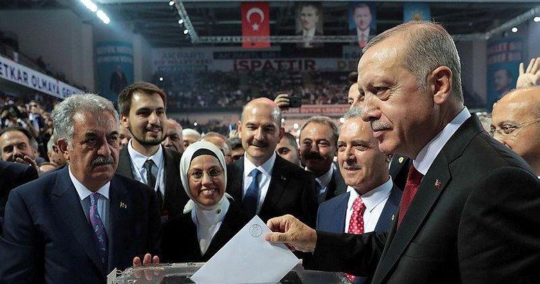 Başkan Erdoğan yeniden AK Parti Genel Başkanı seçildi