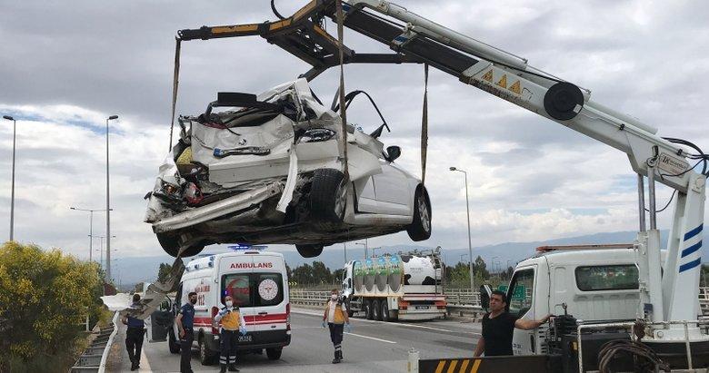 Aydın'da korkunç kaza! Süt tankeriyle otomobil çarpıştı