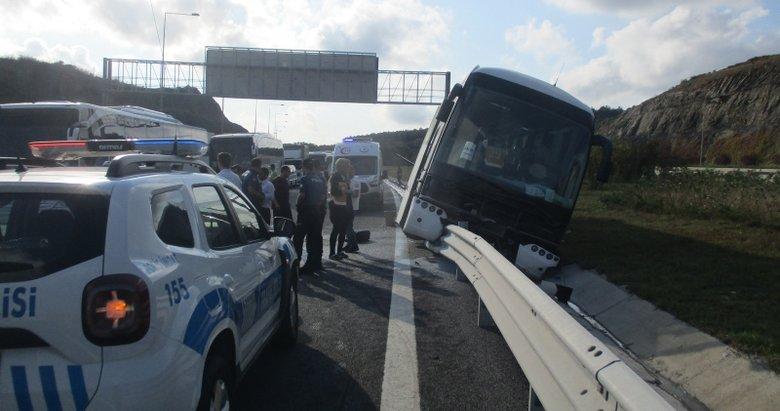 Yavuz Sultan Selim köprüsü girişinde otobüs kazası