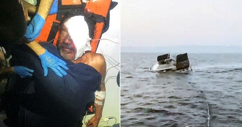 Görüntüleri çıktı! Yunan askerinin ateş açıp, 3 kişinin yaralandığı olayda tekne böyle battı