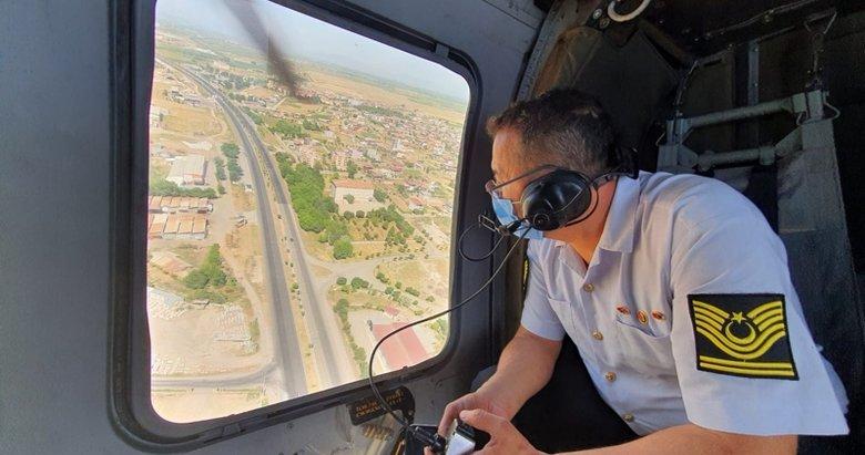 Manisa'da helikopterli denetim! Tek tek tespit edildiler