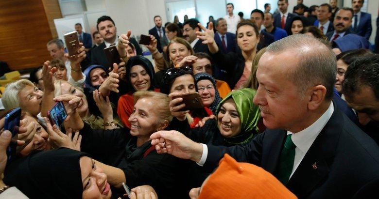 Başkan Erdoğan kan bağışçılarını ziyaret etti