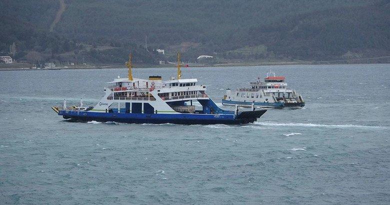 Gelibolu-Lapseki feribot seferleri fırtına nedeniyle yapılamıyor