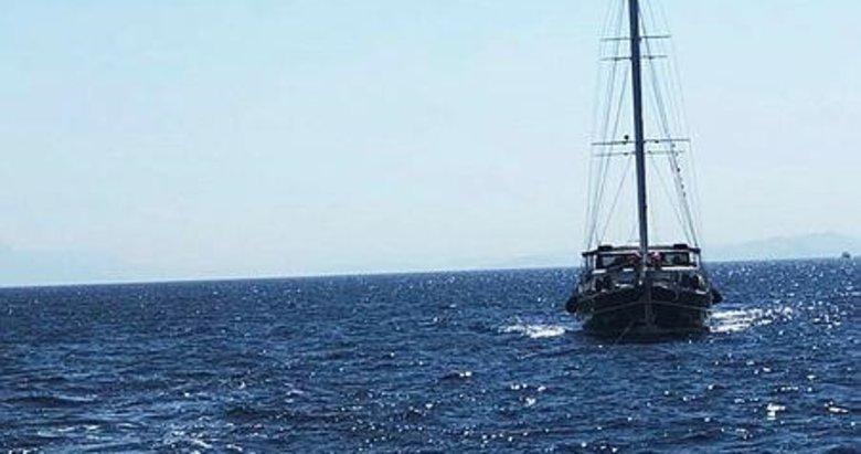Datça açıklarında sürüklenen tekneyi Kıyı Emniyet kurtardı