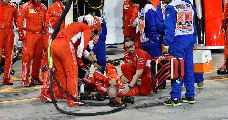 Raikkonen mekanikerin bacağını ezdi