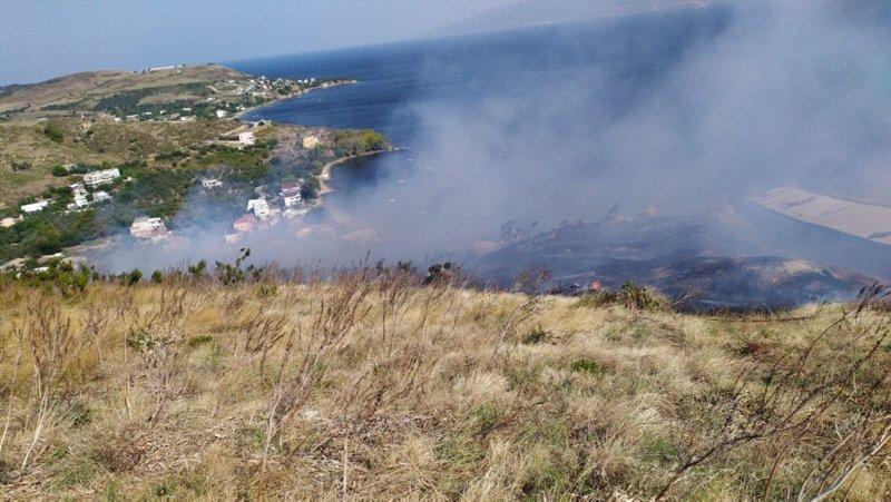 Balıkesir Erdek'te orman yangını