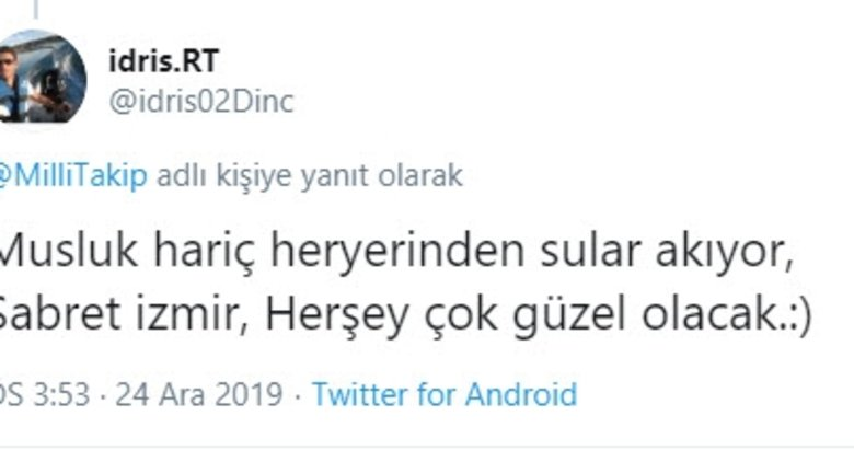 İzmirliler su kesintisi ve sele sosyal medyadan tepki yağdırıyor