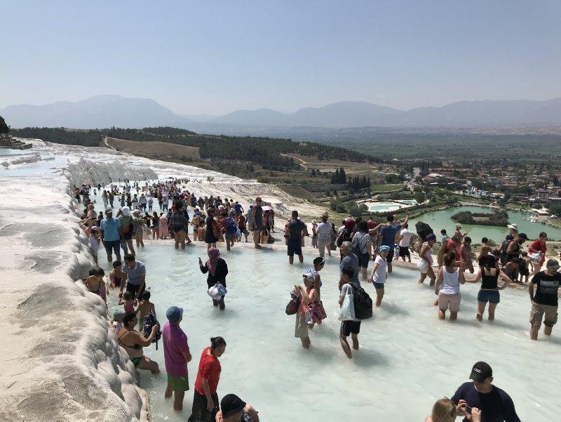Denizli Pamukkale'ye turist ilgisi