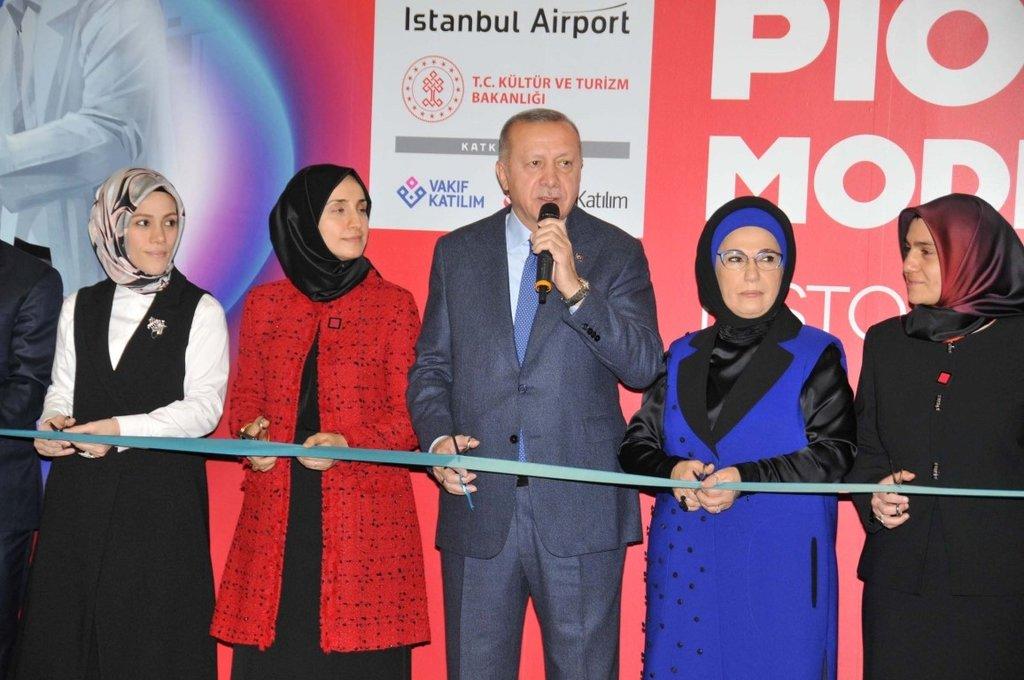 Başkan Erdoğan, İstanbul Havalimanı'nda sergi açılışına katıldı