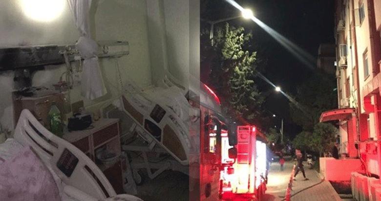 İzmir Konak'taki hastanede korkutan yangın: Bazı hastalar tahliye edildi
