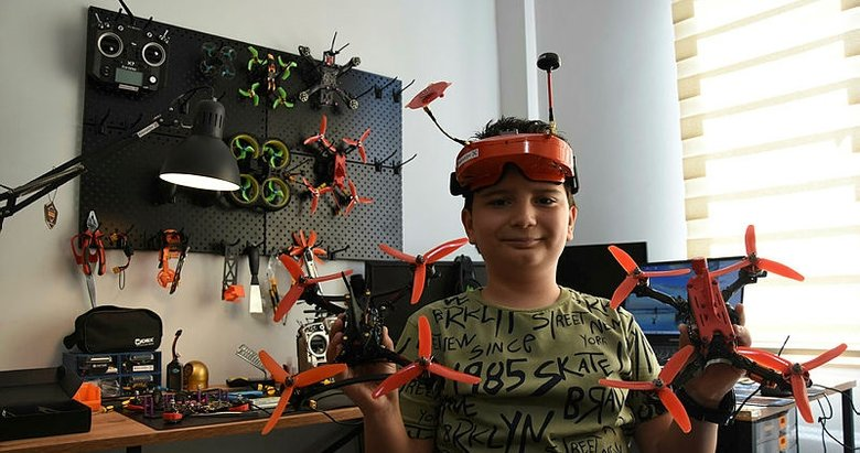 11 yaşındaki Doruk, drone tasarımıyla TEKNOFEST finalinde