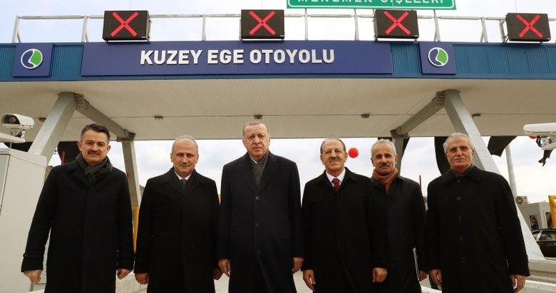Başkan Erdoğan, Menemen - Aliağa - Çandarlı Otoyolu'nu açtı