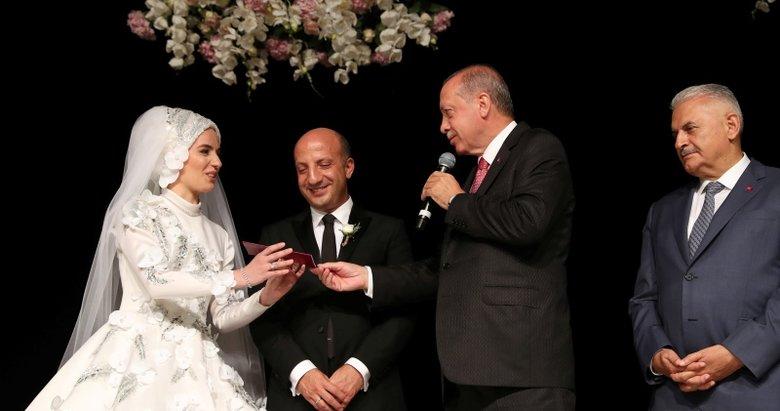 Başkan Erdoğan ile TBMM Başkanı Yıldırım, düğüne katıldı