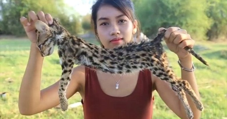 Youtuber nesli tükenen hayvanları avlayıp yiyordu!