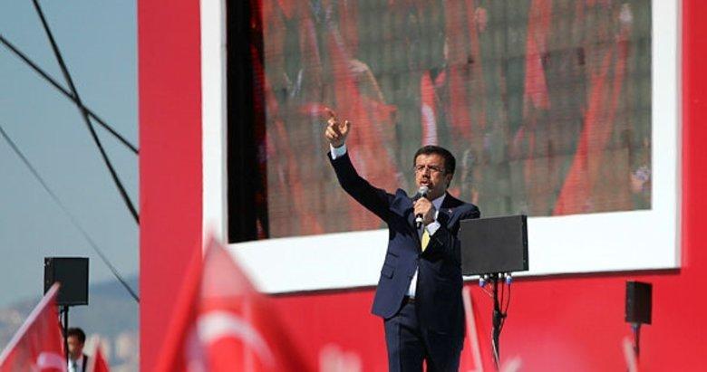 Cumhur İttifakı mitinginde Zeybekci'den çarpıcı mesajlar