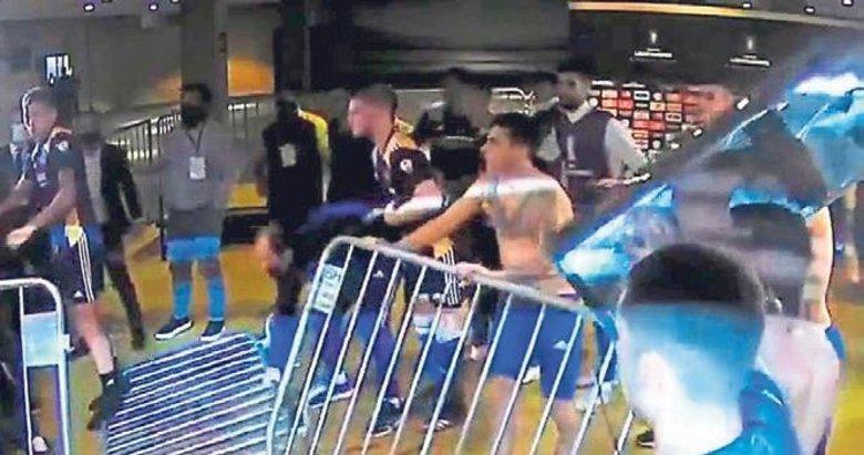 Bocalı oyuncular polisle çatıştı