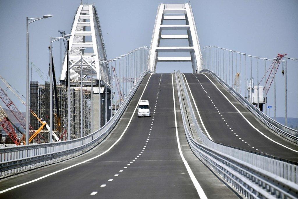 Rusya ile Kırım yarımadası arasında inşa edilen 19 kilometrelik Kerç köprüsü