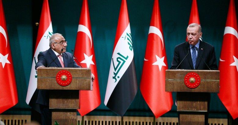 Başkan Erdoğan ve Abdulmehdi'den önemli açıklamalar
