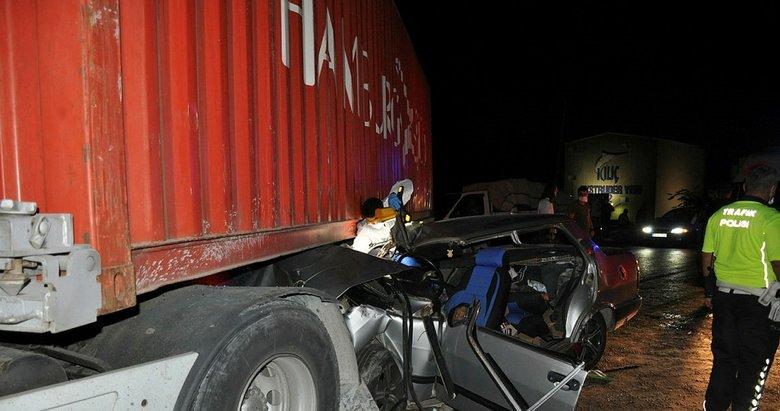 Muğla'da korkunç kaza! Otomobil ile TIR çarpıştı