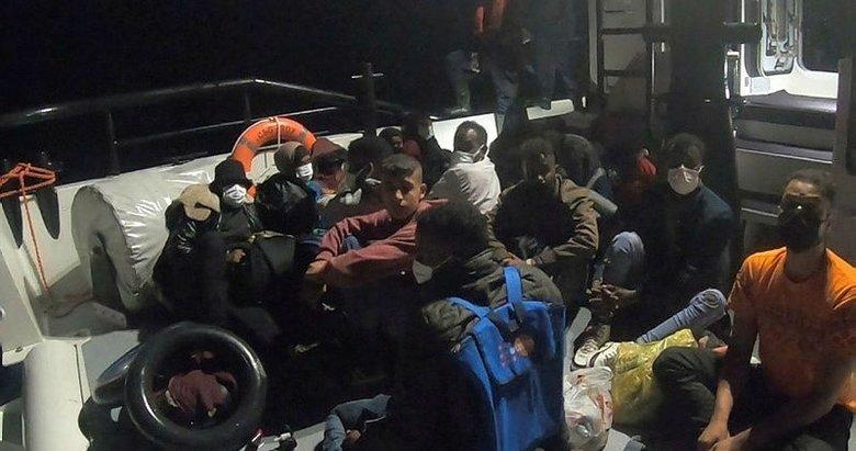 Ege'de Türk kara sularına itilen 128 sığınmacı kurtarıldı