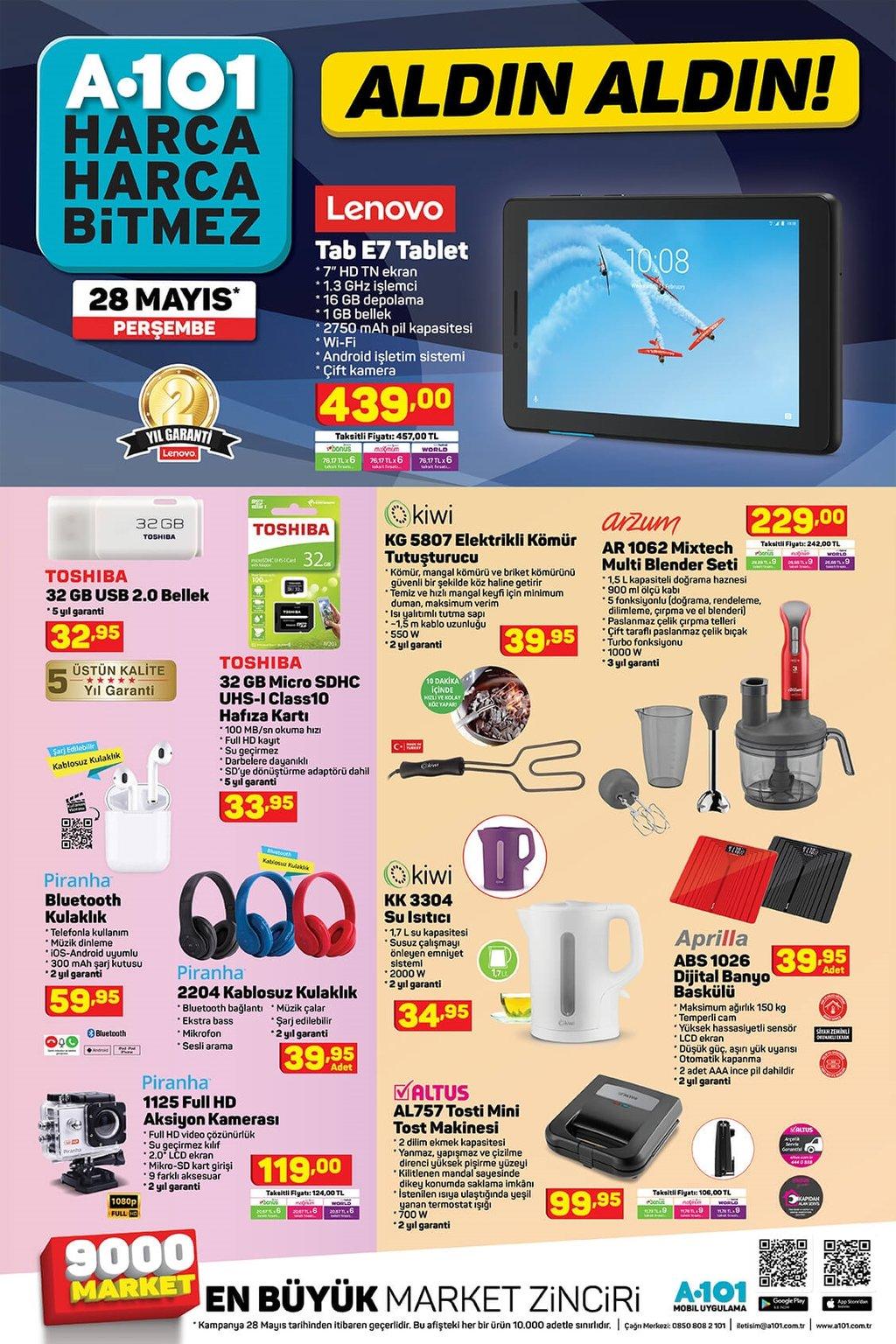 A101 aktüel ürünler kataloğu 28 Mayıs Perşembe! İşte haftanın indirimleri...
