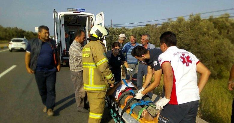 Balıkesir Havran'da trafik kazası