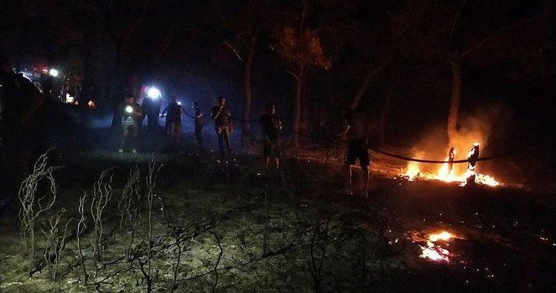 Çanakkale'de ormanlık alanda çıkan yangın söndürüldü! Arazözlerden biri devrildi