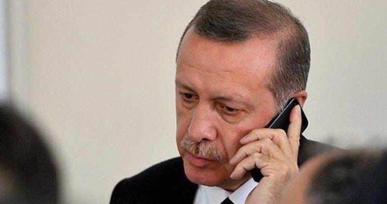 Başkan Erdoğan'dan şehit ailelerine taziye telefonu