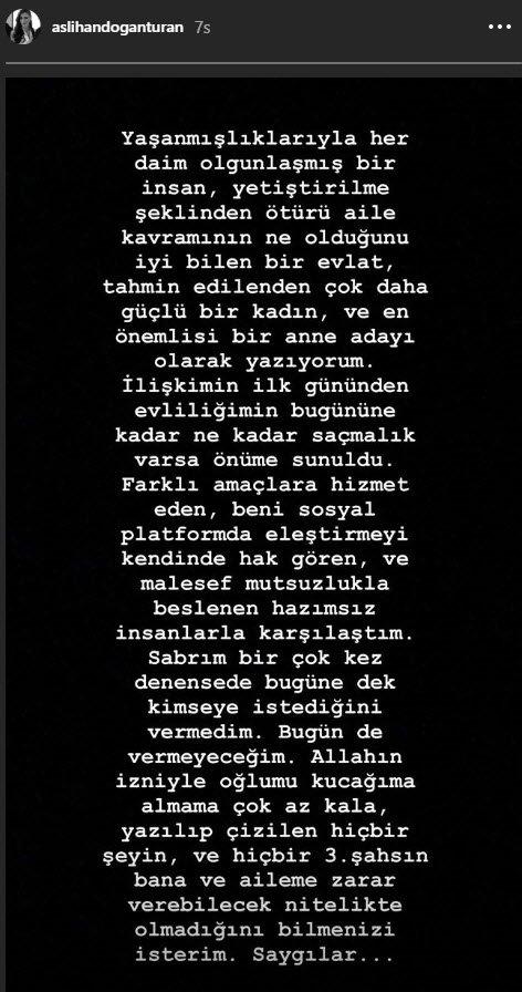 Arda Turan Berkay kavgası sonrası Aslıhan Doğan açıklama yaptı
