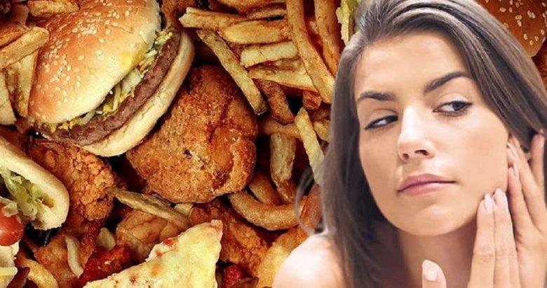 Fast food sivilce yapıyor