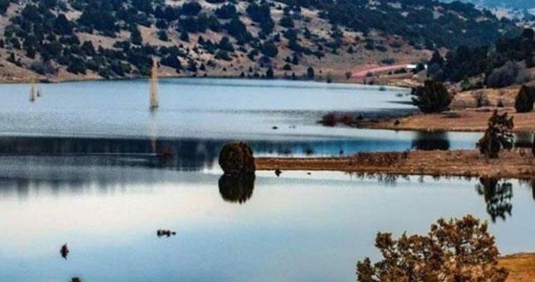Eski köy baraj gölü sularının altında kaldı