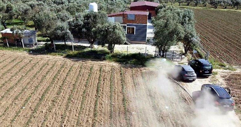 İzmir'de zehir evi! Drone destekli operasyon
