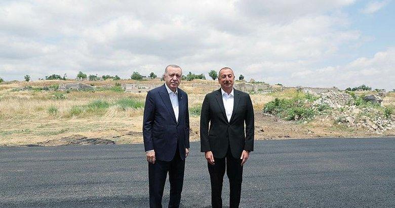 Şuşa'da zafer turu! Başkan Erdoğan'dan tarihi ziyaret
