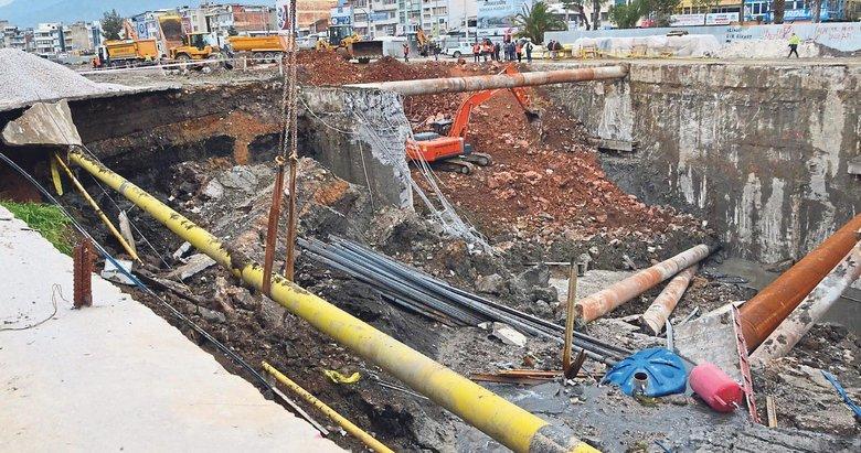 Metro parkı inşaatı çöktü facia sabah fark edildi