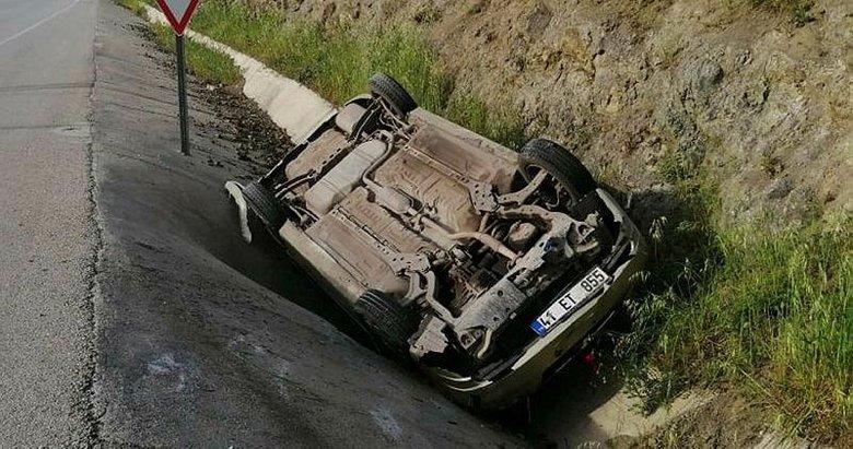 Çanakkale'de feci kaza! Kontrolden çıkarak takla attı