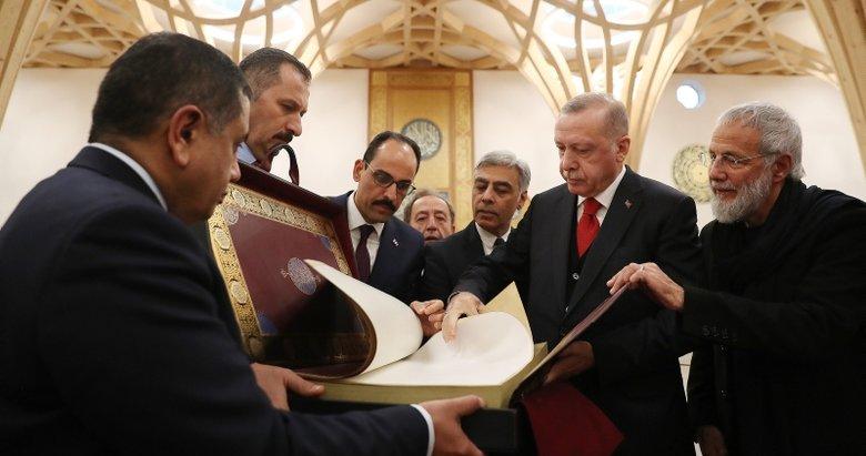 Başkan Recep Tayyip Erdoğan İngiltere'deki Cambridge Camisi'ni açtı