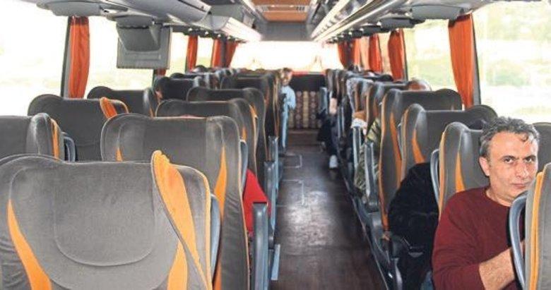Otobüs seferleri durma noktasında